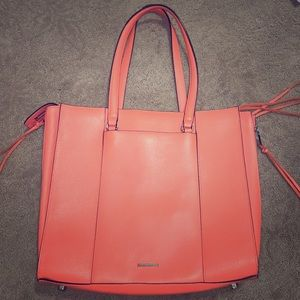 Rebecca Minkoff STUNNING Leather Laptop Bag Coral